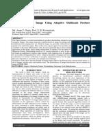 Intensify Denoisy Image Using Adaptive Multiscale Product Thresholding