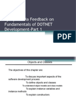 SynapseIndia Feedback on Fundamentals of DOTNET Development-Part 1