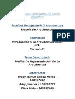 Medios de Representacion de La Arquitectura