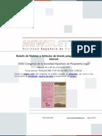 Newsletter Sociedad Española de Psiquiatría Legal agosto 2015