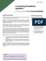 Rethinking Broadband Regulation 2001 - layers model for regulatory practice