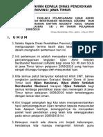 Pointer Arahan Kadis Hasil Uasbn 09-10
