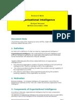 Notes on Organizational Intelligence (December 1990)