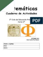 Cuaderno Matemáticas 6º primaria