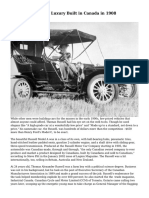 Russell Motor Car, Luxury Built in Canada in 1908