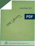 Delta Life Insurance 2012