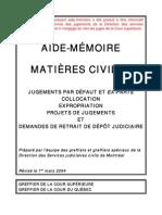 Formulaires légales en français