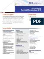 CADLearning for AutoCAD Architecture 2015 Course Outline 2