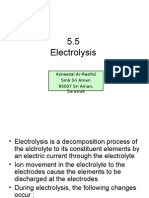 5.5 Electrolysis