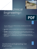 Geotechnical Engineering-I Introduction