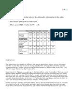 table essay sample