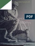 Aubenque y La Prudencia en Aristoteles