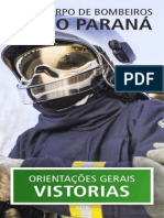Cartilha -  Orientações Gerais Vistorias 2015 - Corpo de Bombeiros do Paraná