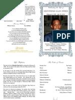 Kristofer Ford Funeral Program