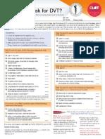 Caprini Dvt Risk Assessment