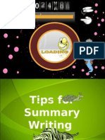 Tips for Summary Writing