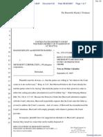 Kelley v. Microsoft Corporation - Document No. 52