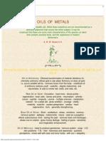 Oils of Metals