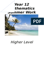 Year 12 Hl Summer Work