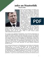 Das Manko an Staatsethik - Thorsten Hinz