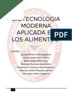 Monografia Biotecnologia Moderna en Los Alimentos