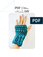 PDF Pattern Mittens Ines Spanish and English Version