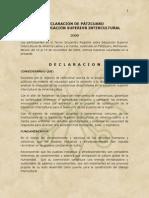 Declaración de Pátzcuaro Sobre Educación Superior Intercultural