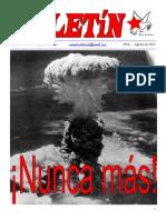 Boletín del Ateneo Paz y Socialismo de agosto de 2015