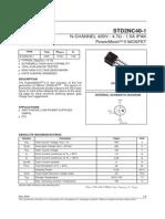 STD2NC40-1 Datasheet (PDF) - STMicroelectronics