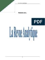 Rapport de Stage Revue Analytique