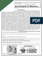 Avaliação Português 8º Anos 2º Bimestre Formatada