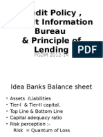 Credit Pol,CIBIL& Principle of Lending(2012-14)
