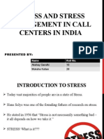 Stress Amd Stress Management in Call Centres in India