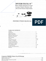 Excel II Instruction Manual