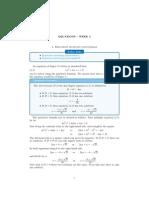 Equations Week3