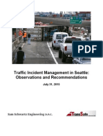 Traffic Incident Management consultants' report for City of Seattle