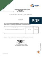 certificado confaboy