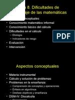 Dificultades de Aprendizaje de Las Matemáticas