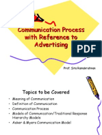 communication process with reference to advertising