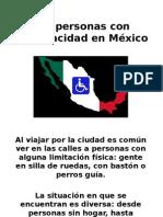 Las Personas Con Discapacidad en México