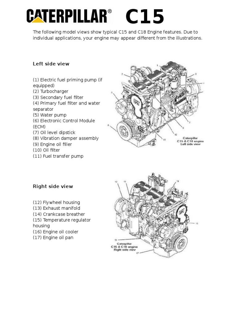Ungewöhnlich C15 Cat Motor Verdrahtungsschemata Ideen - Elektrische ...