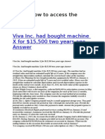 Viva Inc. had bought machine X for $15,500 two years ago