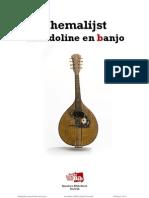 Themalijst mandoline en banjo