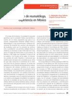 La certificación de reumatólogo, experiencia en México