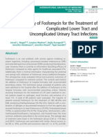 Clinical Efficacy of Fosfomycin for the Treatment of Complicated Lower Tract and Uncomplicated Urinary Tract Infections