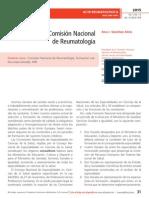 Retos de la Comisión Nacional de Reumatología