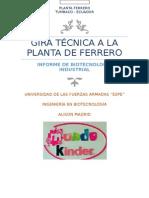 Gira Técnica a La Planta de Ferrero