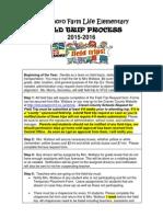 2015-2016 field trip process