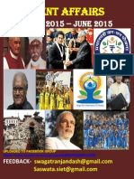 Last 6 Month Current Affairs January 2015-June 2015 (1)