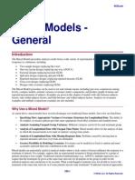 Mixed Models General